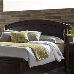 Avalon Faux Leather Panel Headboard in Dark Truffle