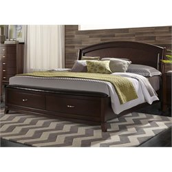 Avalon Panel Storage Bed in Dark Truffle