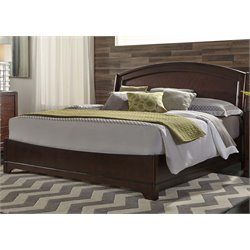 Avalon Panel Bed in Dark Truffle