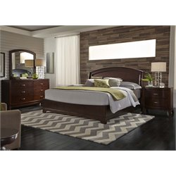 Avalon 4 Piece Panel Bedroom Set in Dark Truffle DMN