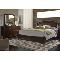 Avalon 3 Piece Panel Bedroom Set in Dark Truffle DM
