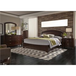 Avalon 5 Piece Panel Bedroom Set in Dark Truffle DMCN