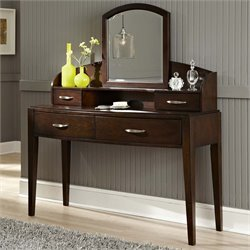 Avalon Bedroom Vanity in Dark Truffle