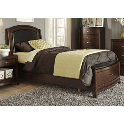 Avalon Faux Leather Storage Bed in Dark Truffle