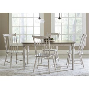 Oak Hill Dining Set in Tan Smoke and Antique White
