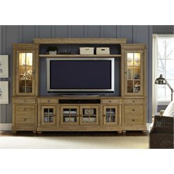 Harbor View Entertainment Center with Piers in Sand