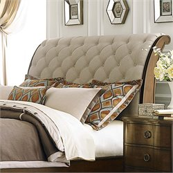 Cotswold Upholstered Sleigh Headboard in Cinnamon