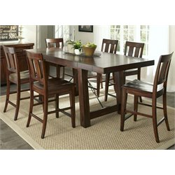 Tahoe Counter Height Dining Set in Mahogany Stain