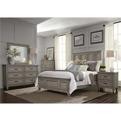 Grayton Grove 5 Piece Panel Bedroom Set in Driftwood