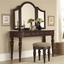 Arbor Place Bedroom Vanity Desk in Brownstone