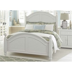 Summer House Poster Bed in Oyster White