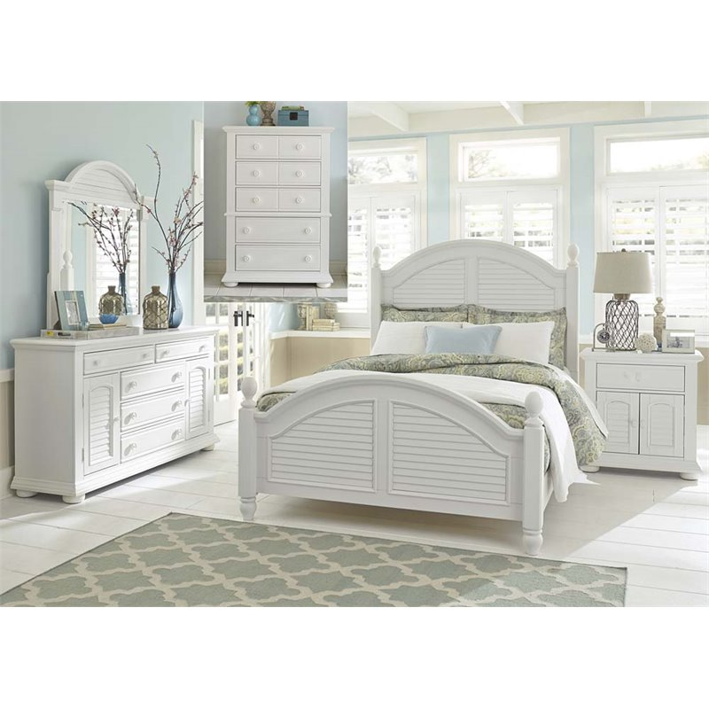 Liberty Furniture Summer House I 5 Piece King Poster Bedroom Set