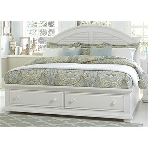 Summer House Storage Bed in Oyster White