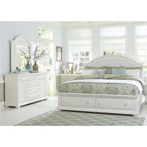 Summer House 3 Piece Storage Bedroom Set in Oyster White DM