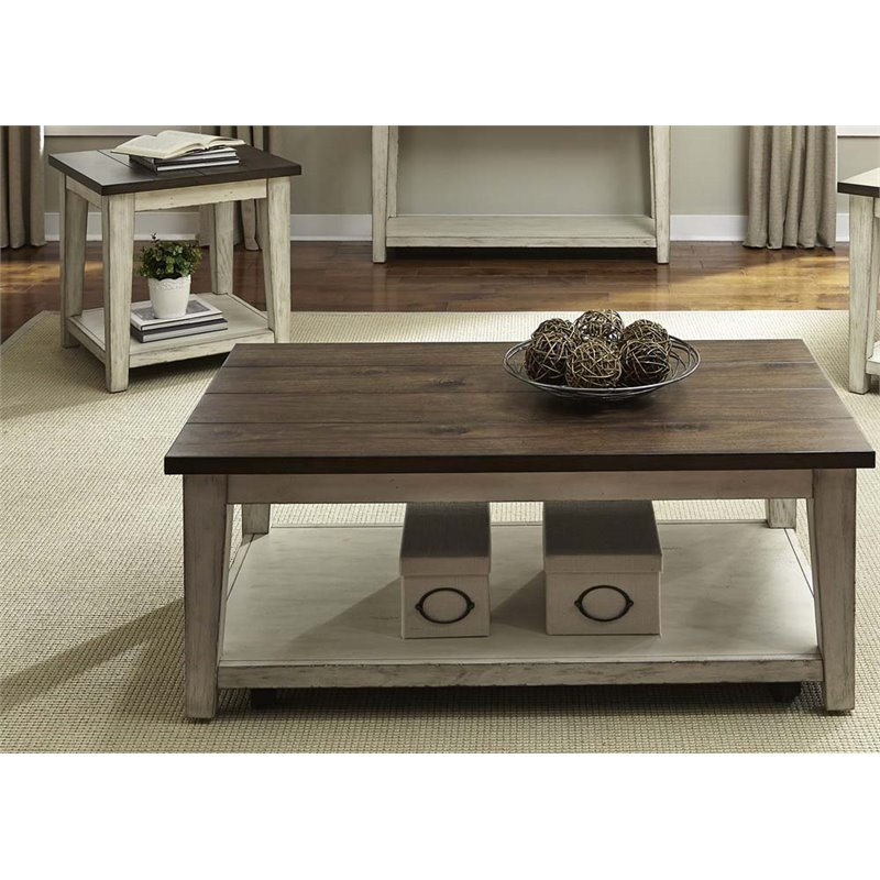 Liberty Furniture Lancaster 3 Piece Coffee Table Set in Weathered Bark  sc 1 st  Cymax Stores & Liberty Furniture Lancaster 3 Piece Coffee Table Set in Weathered ...