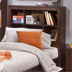 Chelsea Square Bookcase Headboard in Burnished Tobacco