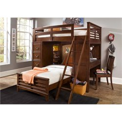 Liberty Furniture Chelsea Square Twin Loft Bed with Full Cork Bed