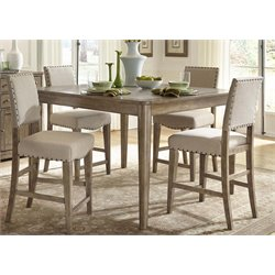 Liberty Furniture Weatherford 5 Piece Counter Height Dining Set