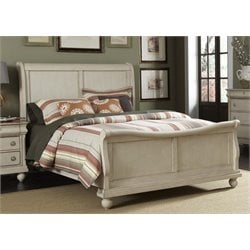 Rustic Traditions II Sleigh Bed in Rustic White