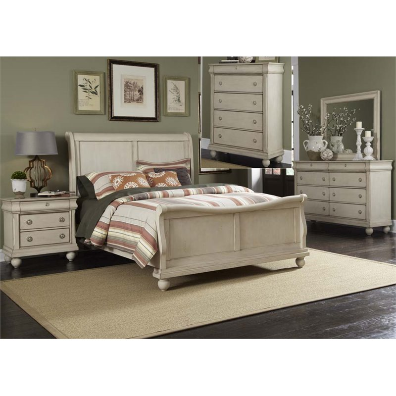 Liberty Furniture Rustic Traditions 5 Piece Queen Sleigh Bedroom Set