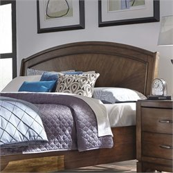 Avalon III Platform Headboard in Pebble Brown
