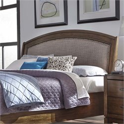 Avalon III Upholstered Headboard in Pebble Brown