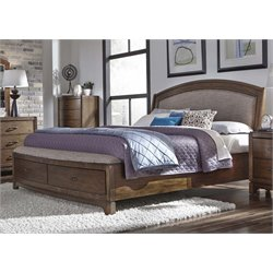 Avalon III Storage Bed in Pebble Brown