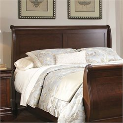 Carriage Court Sleigh Headboard in Mahogany Stain
