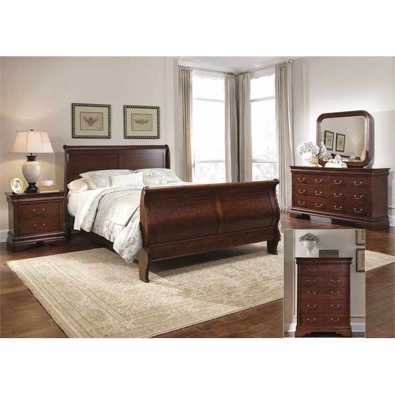 Liberty Furniture Carriage Court 5 Piece King Sleigh Bedroom Set