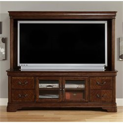 Alexandria TV Stand in Autumn Brown