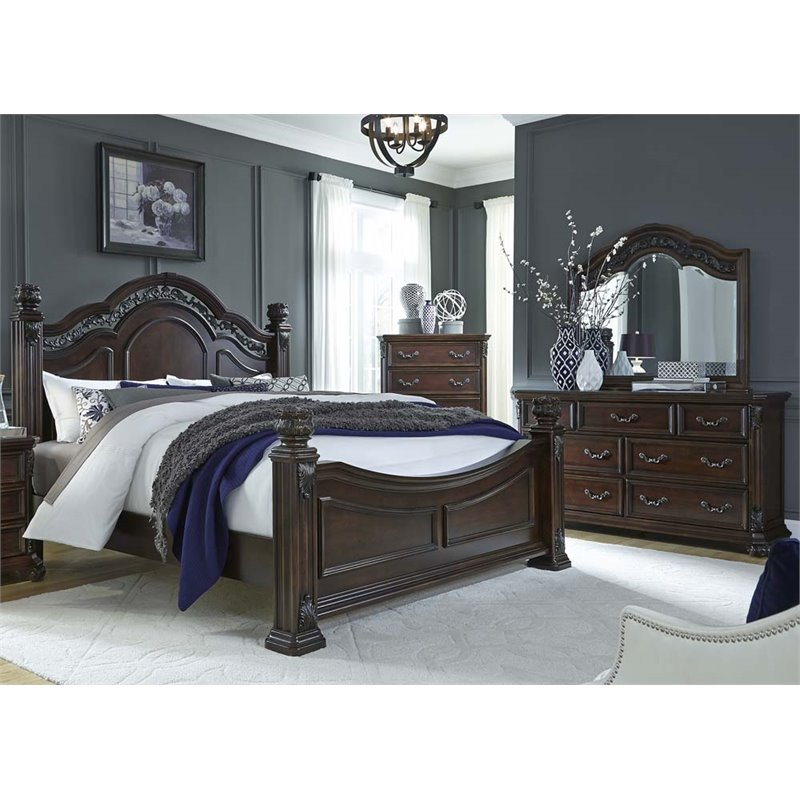 Liberty Furniture Messina Estates Piece King Poster Bedroom Set