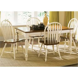 Low Country Dining Set in Linen Sand with Suntan Bronze (A)