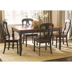 Low Country Dining Set in Anchor Black with Suntan Bronze (B)