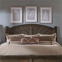 Modern Country Poster Headboard in Harvest Brown
