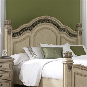 Messina Estates Poster Headboard in Antique Ivory