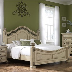 Messina Estates Poster Bed in Antique Ivory