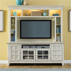New Generation TV Stand in Distressed Cream