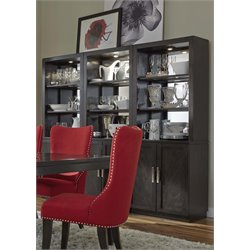 Liberty Furniture Platinum 3 Piece China Cabinet Set in Satin Espresso