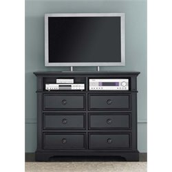 Liberty Furniture Carrington II Media Chest in Black