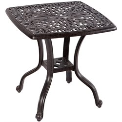 Alfresco Home Kaleidoscope Patio End Table in Antique Wine