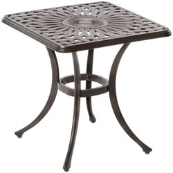 Alfresco Home Florentine Patio End Table in Antique Bronze