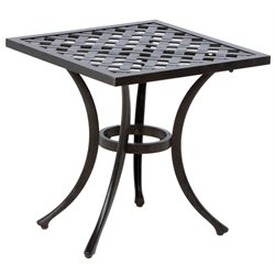 Alfresco Home Weave Patio End Table in Antique Fern