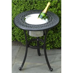 Alfresco Home Kaleidoscope Round Beverage End Table