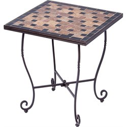Alfresco Home Recco Ceramic Mosaic Top Patio End Table