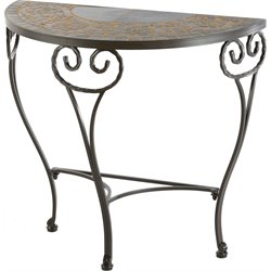 Alfresco Home Vulcano Ceramic Patio Console Table