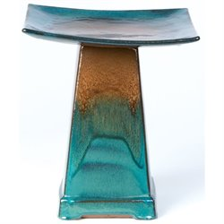 Alfresco Home Zen Bird Bath in Aqua