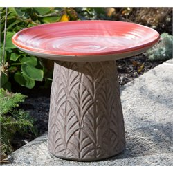 Alfresco Home Nakoda Ceramic Bird Bath-C