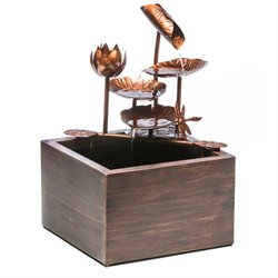 Alfresco Home Tamara Box Resin Fountain with Pump