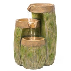 Alfresco Home Highlands Resin Fountain with Pump and Light