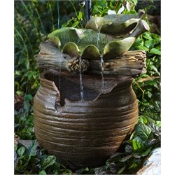 Alfresco Home Fairy Drinks Resin Fountain with Pump and Light